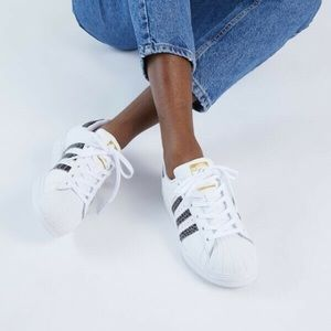 Croc Snakeskin Adidas Superstar Sneakers White